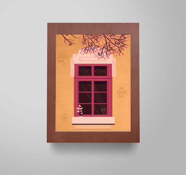 Anne Thieblemont Illustration Fenêtre